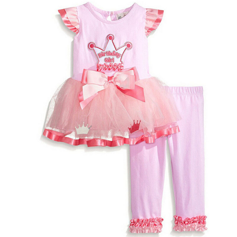 2016 літній корона рожевий бавовняний - Дитячий одяг