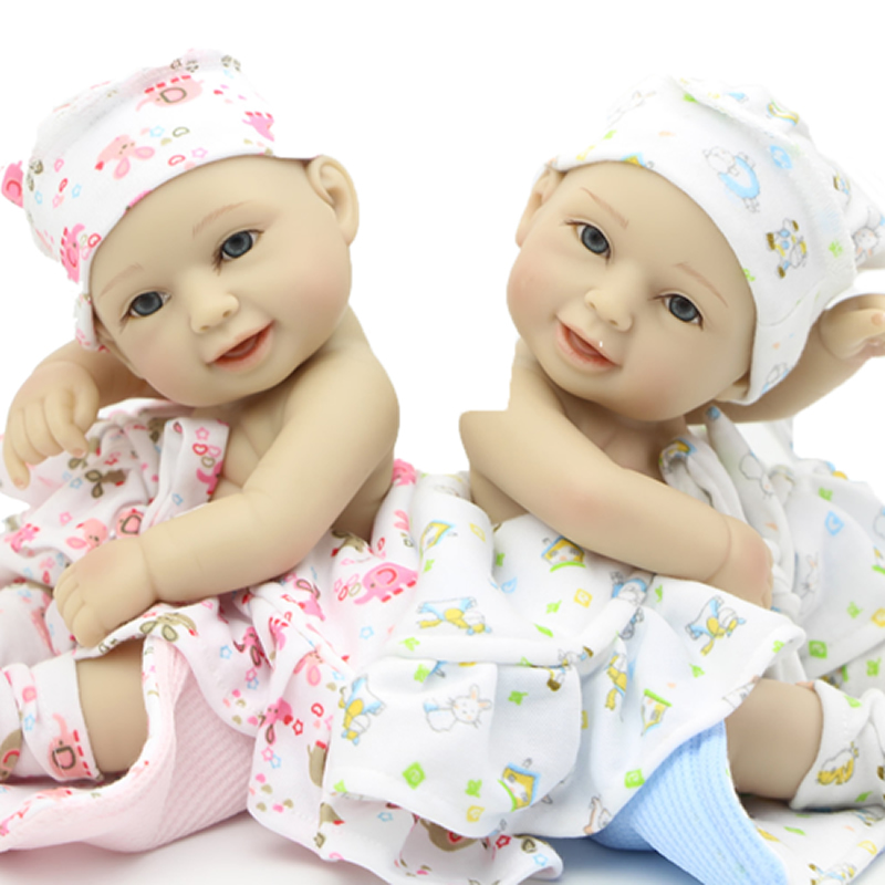 NºTiny Smiling Newborn Doll ᗖ Twins Twins Full Silicone