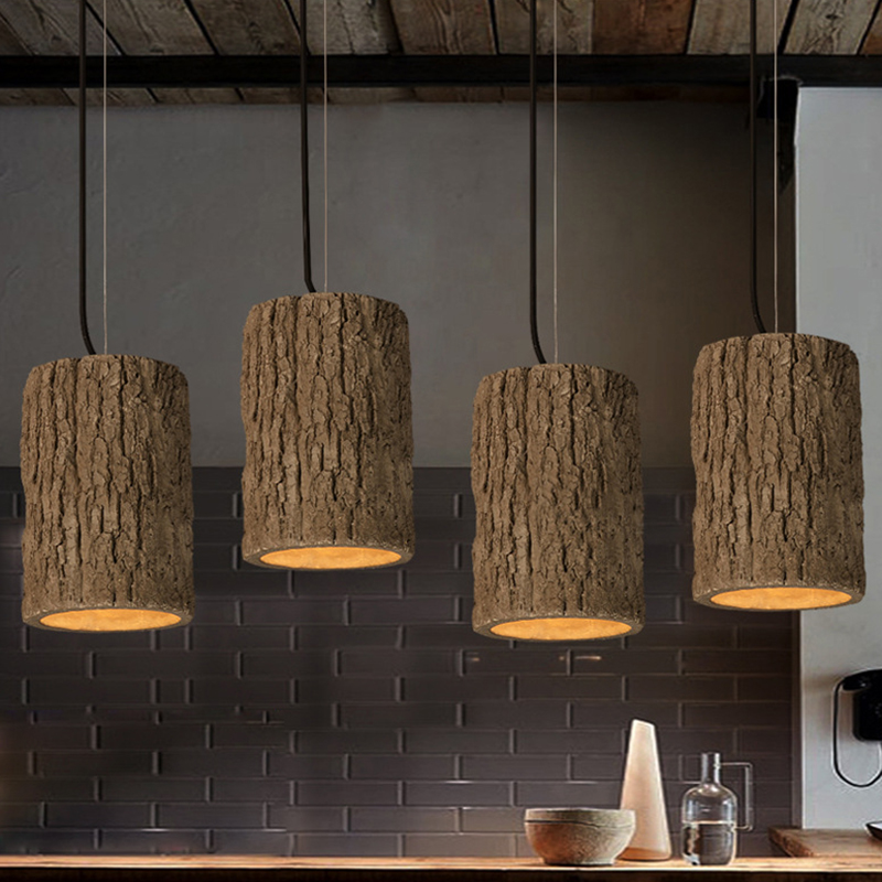 Retro Industrial Loft stump Style Cement Pendant lights modern led E27 cord pendant lamp for Restaurant bedroom kitchen bar industrial  pendant lights loft retro