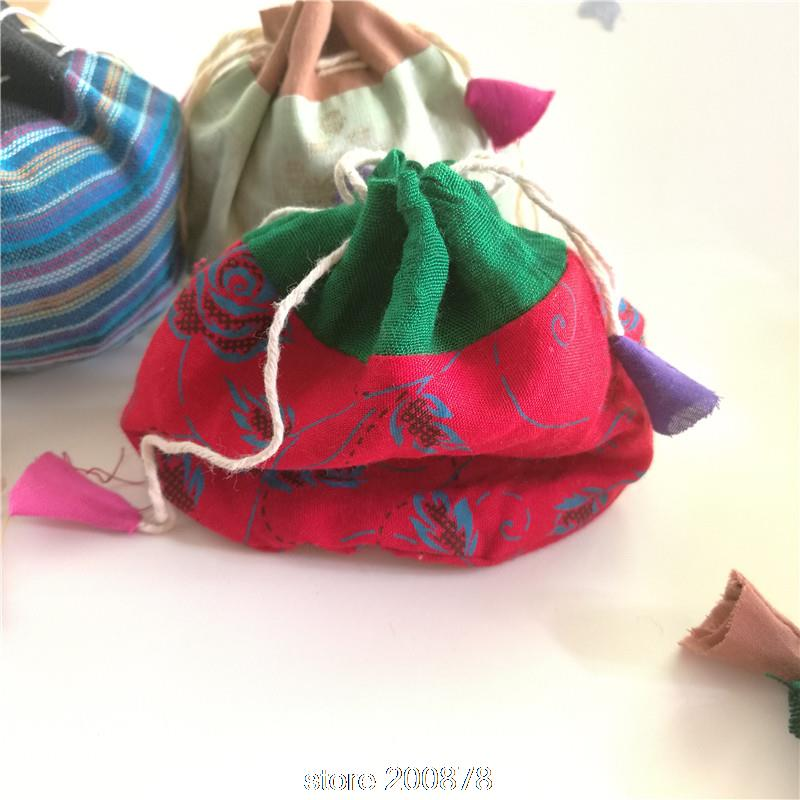 Modest C18 Nepal Hand Cotton Pouches Wholesale 10pcs Lot Jewelry Bags Change Pouch Moderate Price