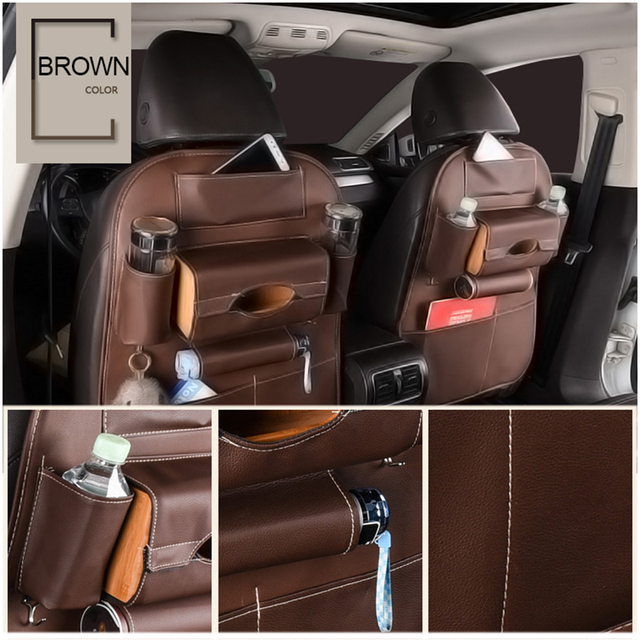 Car Seat Back Organizer PU Leather