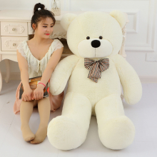 Soft Big 60cm 80cm 100cm 120cm Stuffed Giant Teddy Bear White Plush Toy Large Embrace Bear Chrildren Kids Doll Ծննդյան նվեր