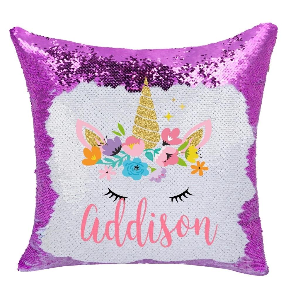 custom reversible sequin pillow online