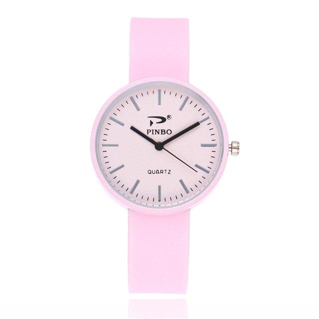 18cdea0e83b FUNIQUE Minimalista Mulheres Meninas Quartzo Pequeno Mostrador Redondo Moda  Silicone Relógio Do Esporte Ocasional Relógio Montre