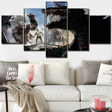 Rampage 5 Piece Science Fiction Cartoon Movie Paintings Canvas Wall Art for Home Decor HD Print Modern Decorative