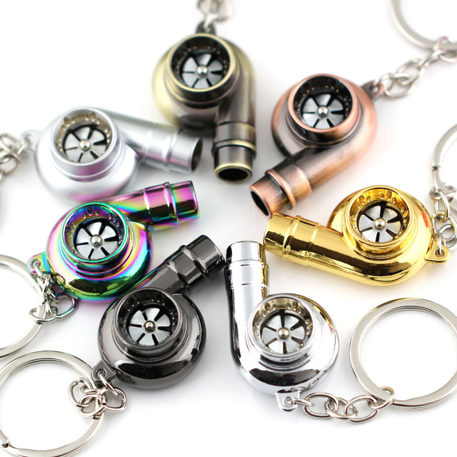 US $3 9 61% OFF|Real Whistle Sound Turbo Keychain Spinning Auto Part Model  Turbocharger Turbine Key Chain Ring Keyring Keyfob Key Holder-in Key Chains