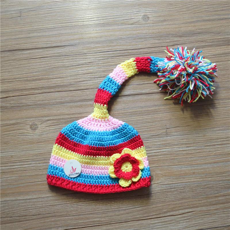fbf607aa684 Νεογέννητο παιδικό καπέλο μωρό καπέλο παιδιά μαλλί χέρι-παράγραφο ...