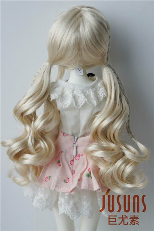 JD337 1 4 18 20cm MSD synthetic mohair BJD doll wigs 7 8inch double long pony braid wigs in Dolls Accessories from Toys Hobbies