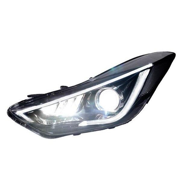 Assembly Cob Side Turn Signal Daytime Running Lights Drl Luces Para Auto Led Car Lighting Headlights For Hyundai Elantra