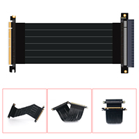 Ubit New PCI Express PCIe3.0 16x Flexible Cable Card Extension Port Adapter High Speed Riser Card (20cm)