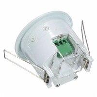 Mini Detector infrarrojo de detección PIR de 360 grados, Sensor de movimiento empotrado para pared de techo IR, interruptor de luz automático, sensor de movimiento de 220v