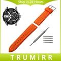 26 мм Силиконовой Резины Ремешок Для Часов + Инструмент для Дизельных Часы Ремешок Из Нержавеющей Стали Пряжка Ремешок Наручные Браслет Черный Коричневый Зеленый Orange