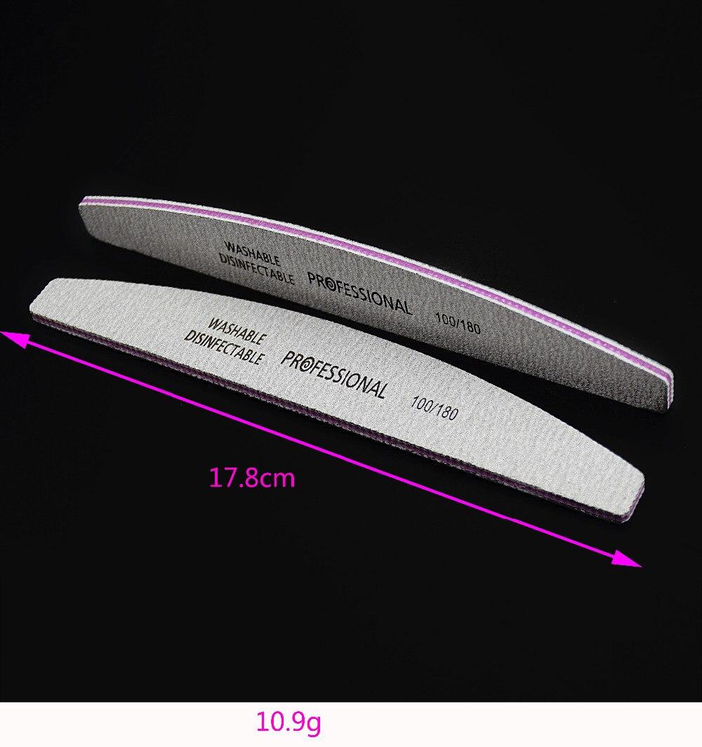 Valor excelente! 5pcs Barco Cinza Lixa de Unhas Lixar Lixas de Unha & Tampão Descartável 100/180 Gel UV Salon Manicure Ferramentas Fornecedor.