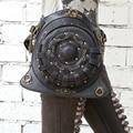 Mestre de aço steampunk saco de moda na Europa e América Do saco de ombro saco da cintura saco 2015 maré gothic rodada saco preto Livre grátis