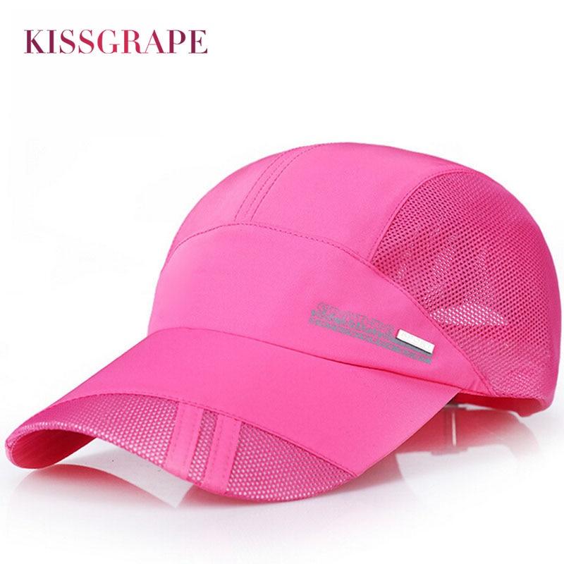 2017 Summer Women's Breathable mesh baseball caps quick dry s