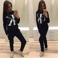 Hot 2017 Long sleeved Letter printing female Hooded suit women Hoodies Sweatshirts