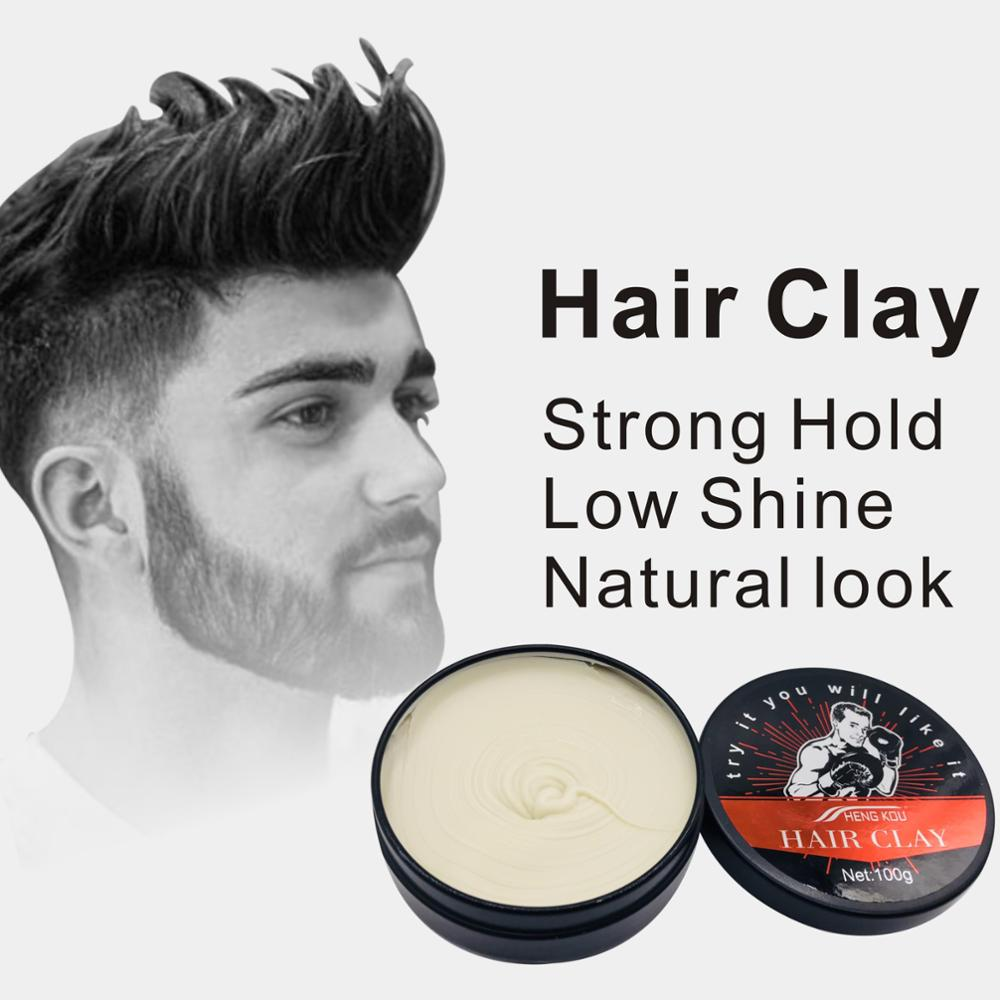 Styling Products Beauty & Health New 1 Box 80 G Men Styling Makeup Natural Hairstyle Wax Matte Hair Clay Hair Styling Tools Tslm2 High Safety