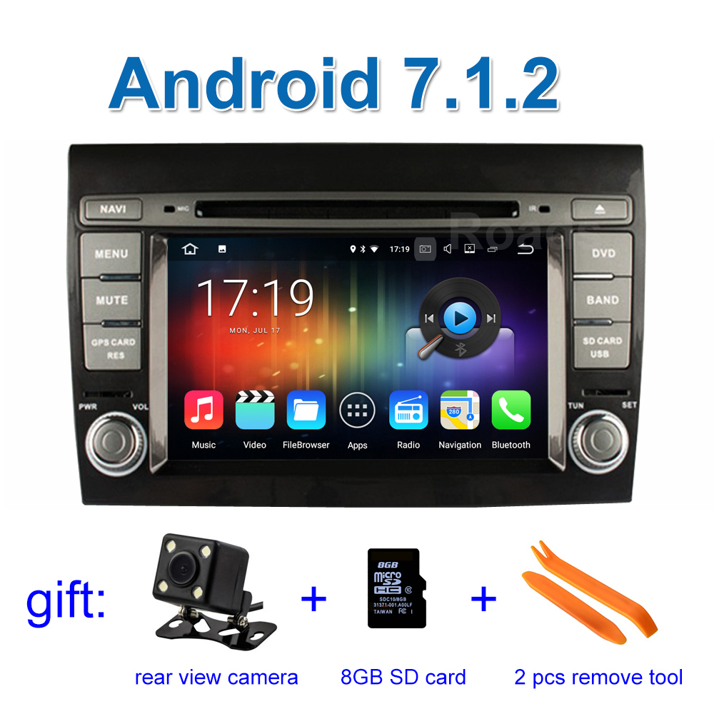 2 GB RAM Android 7 1 Car DVD Player for Fiat Bravo 2007 2008 2009 2010