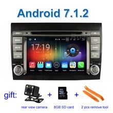2 GB de RAM Android 7.1 Coches Reproductor de DVD para Fiat Bravo 2007 2008 2009 2010 2011 2012 con Espejo-link Radio WiFi Bluetooth GPS