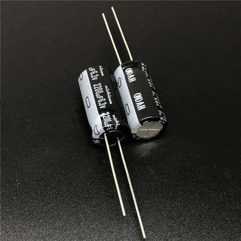 10pcs/100pcs 2200uF 6.3V NICHICON HV Series 10x20 High Ripple Current Low Impedance 6.3V2200uF Aluminum Electrolytic Capacitor