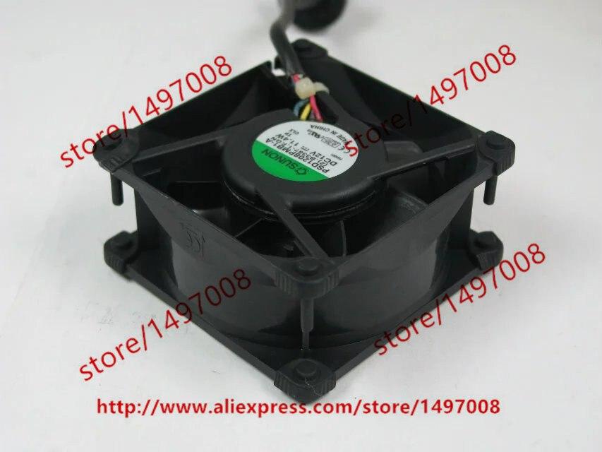 SUNON PSD1208PMB1-A (2).B3387-1.F.GN DC 12V 11.4W 80X80X38mm Server Square Fan free shipping for sunon kde0505phb2 dc 5v 1 9w 2 wire 3 pin 50x50x15mm server square fan