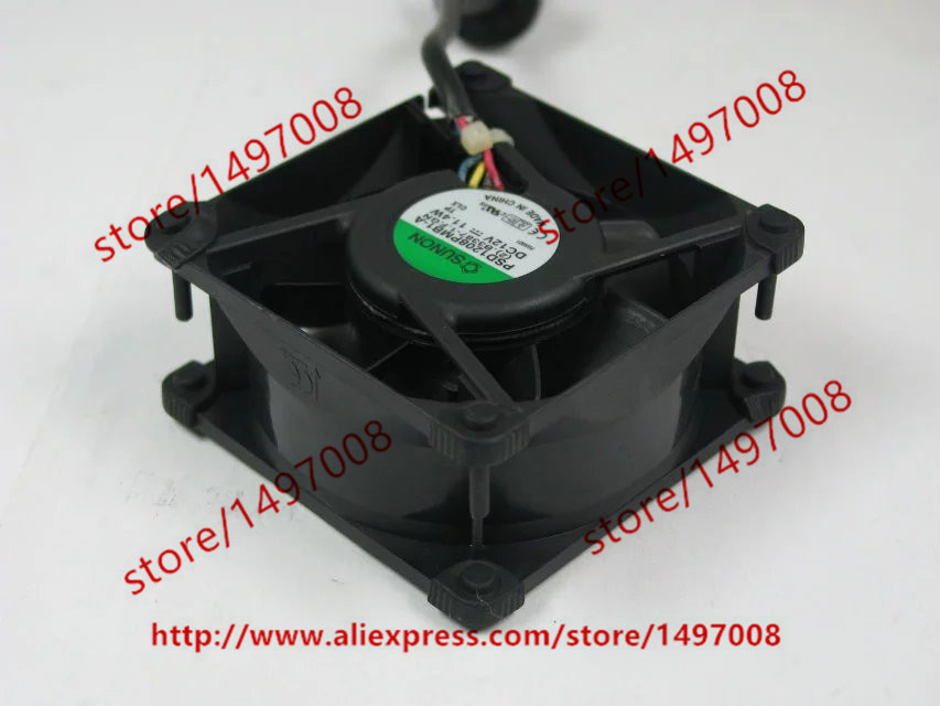 Free shipping For SUNON PSD1208PMB1-A (2).B3387-1.F.GN DC 12V 11.4W 4-wire 4-pin connector 80X80X38mm Server Square Cooling Fan free shipping for sunon kde0505phb2 dc 5v 1 9w 2 wire 3 pin 50x50x15mm server square fan