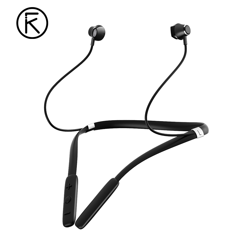 iKF W1 Bluetooth Headphone with Microphone Neckband Wireless Headset IPX5 Water Resistant Sports Earphone Noise Cancelling awei a950bl noise cancelling bluetooth headphone wireless earphone cordless headset with microphone casque earpiece for phones