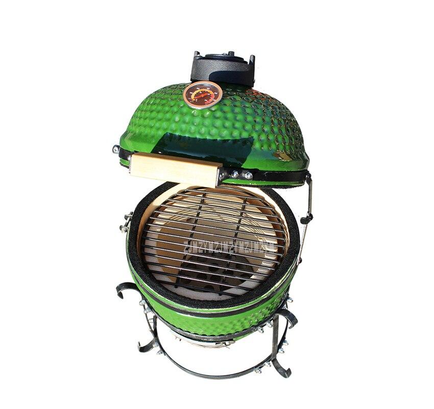 13 pouces en céramique Barbecue Grill four à Pizza charbon de bois poêle à bois céramique four à Pizza Barbecue Grill accessoires pour la maison en plein air