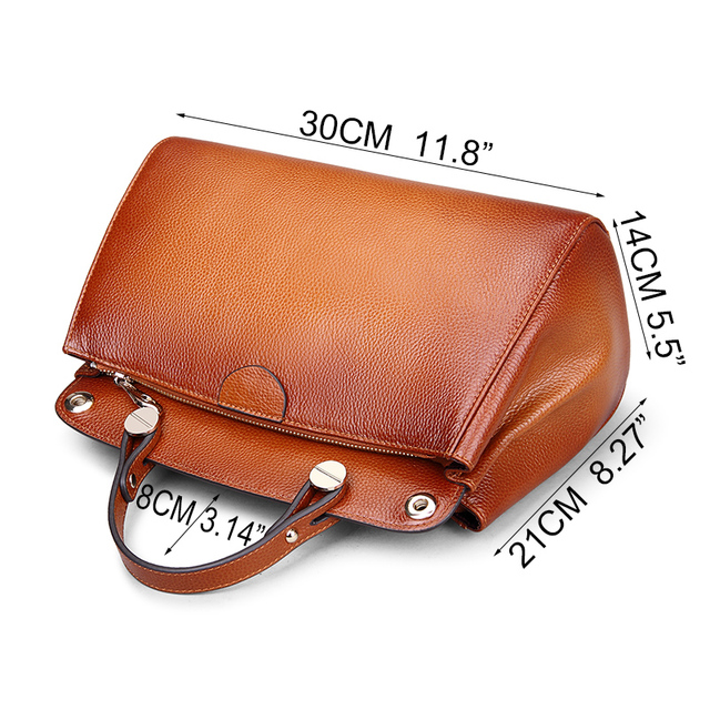 Go Meetting Brand Genuine Leather Women's Handbags Cow Leather Sprayed Color Women Shoulder Bag Vintage Crossbody Messenger Bags