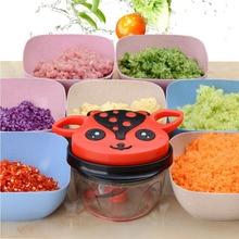 Manual Food Processor 900ml Kitchen  Hand  Vegetable Chopper/Mincer/Blender for Salsa/Salad/Pesto/Coleslaw/Pure/Garlics Gadgets