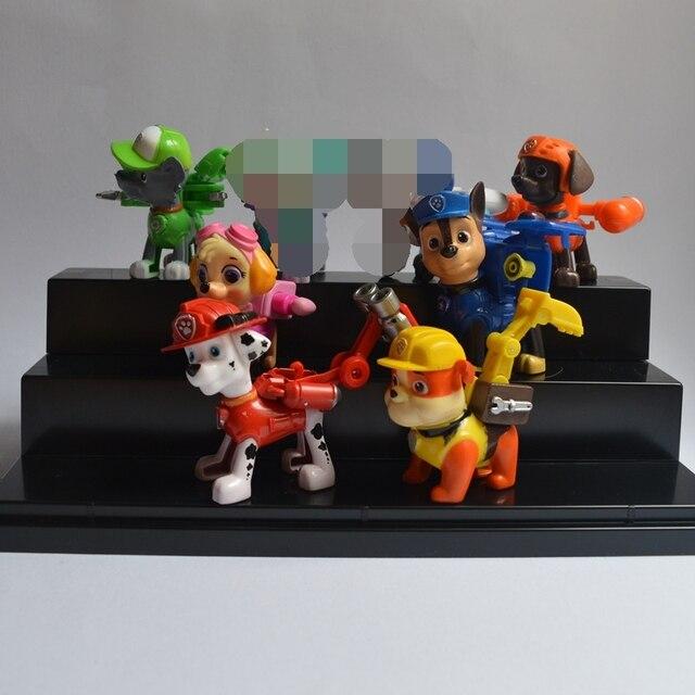 2016 New Toys 6 Pcs/Set Patrol Puppy Dog Toy Childrens Anime Action Figure Toy Mini Figures pat Patrol Dog Model Toys