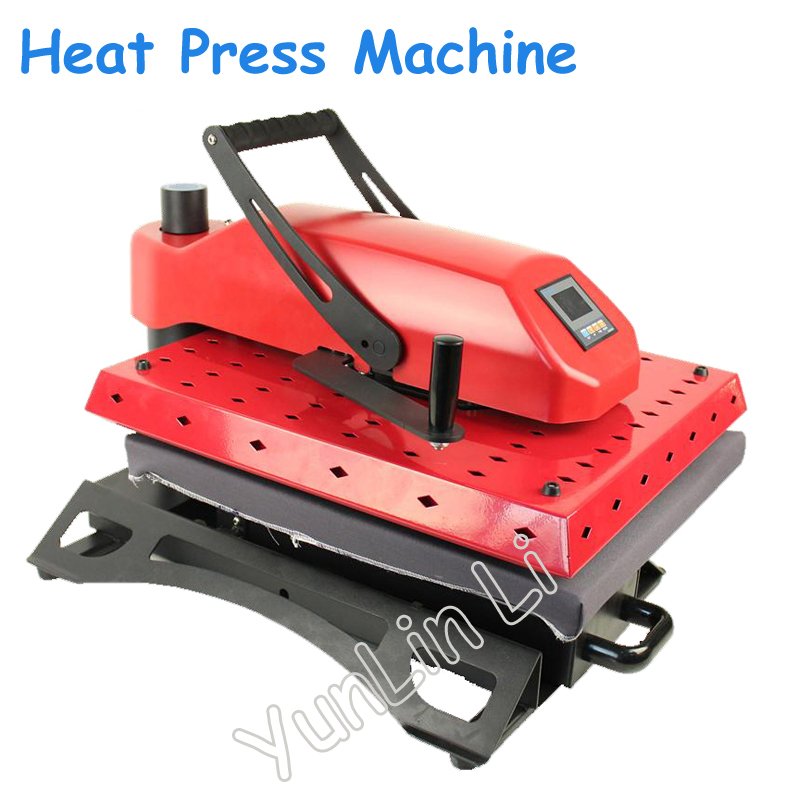 Manual Heat Transfer Press Machine With Workable Size Of 40*50cm Shaking Head T-shirt Pyrograph Transfer Machine 1.4KW