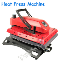 Manual Heat Transfer Press Machine with Workable Size of 40*50cm Shaking Head T shirt Pyrograph Transfer Machine 1.4KW