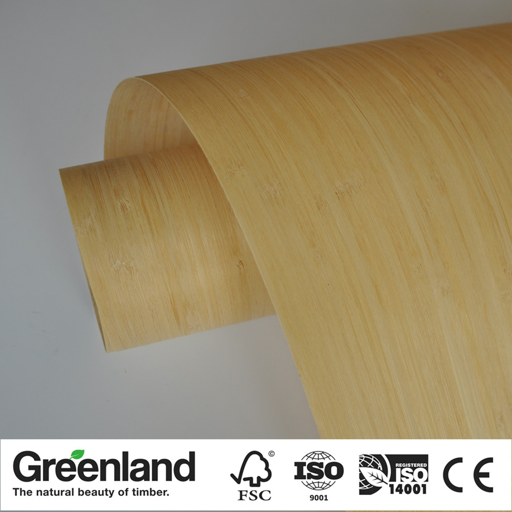 Carbonized Vertical Bamboo Veneer For DIY Furniture Table Natural Material Chair Cabinet Doors Outer Skin Size 250x42 Cm Natural