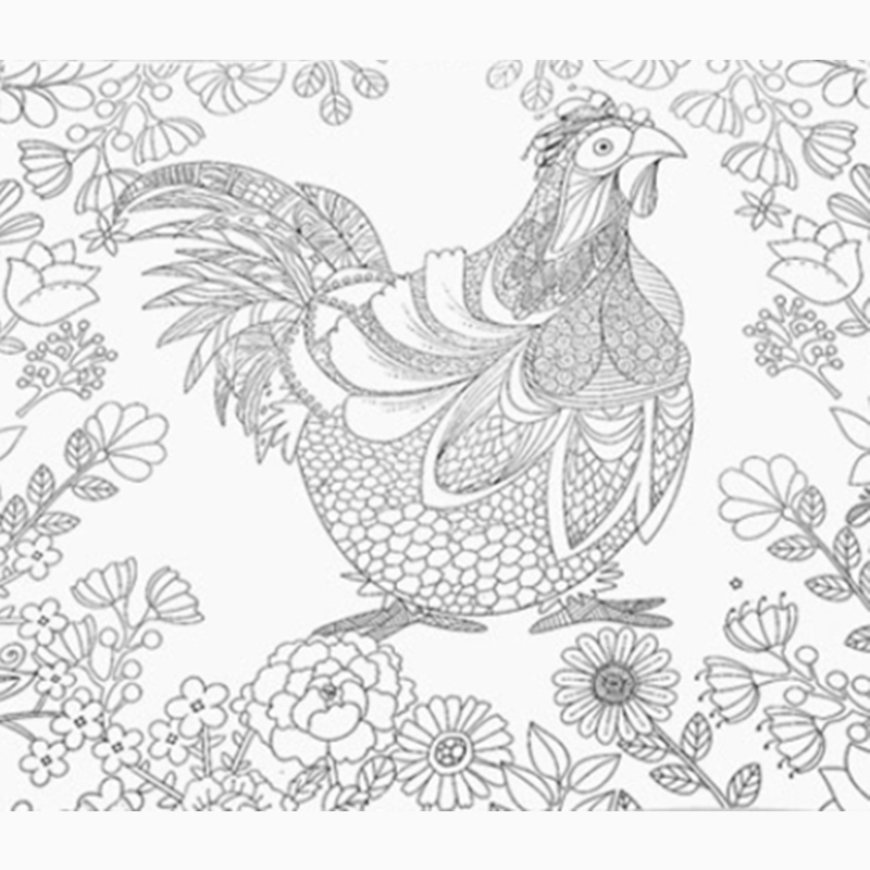 92 Secret Garden Coloring Book Animals