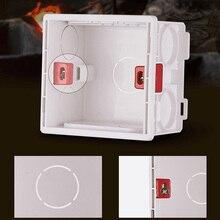 86 Установочная коробка 86*86 темная коробка общий бытовой выключатель розетка темная линия Нижняя закрывающая коробка Footlight кассета