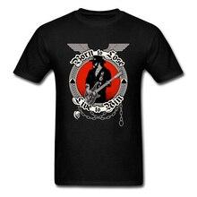 Punk T-shirt Men Black T Shirts Born To Lose Rock Star Clothing Custom Hipster Tops Letter Vintage Tees Cotton Tshirt Drop Ship