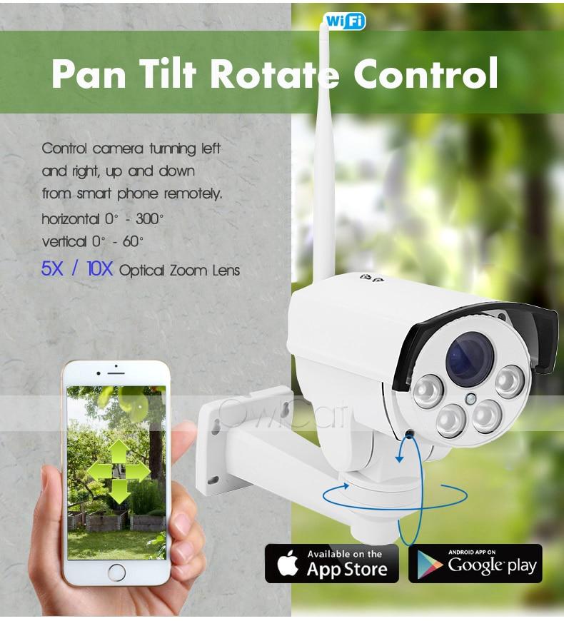 HD 1080P Bullet PTZ IP-камера Wi-Fi 5X 10X зум - Безопасность и защита - Фотография 5