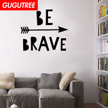 Decorate be brave arrows art wall sticker decoration Decals mural painting Removable Decor Wallpaper LF-152