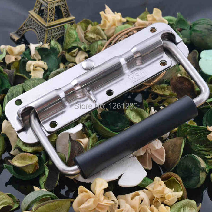 free shipping metal handle Air box spring stainless steel handle aluminum Instrument case bag hardware toolbox handle fitting dhl ems free shipping for bmw x5 rear left right air suspension spring bag 37126790078 cars spring bag