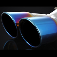 Car Mufflers C HR Stainless Steel Car Rear Exhaust Muffler Tail Pipe For Toyota C HR CHR 2017 2018