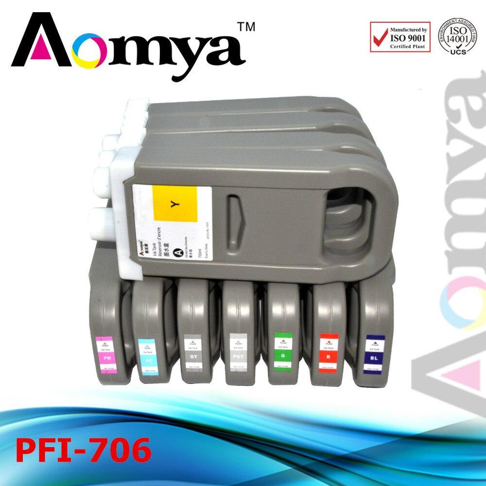 [12pcs/set] PFI-706 [Pigment Ink] wide format cartridge For Canon iPF8400 iPF8410 iPF9400 Fast Shipping Via DHL