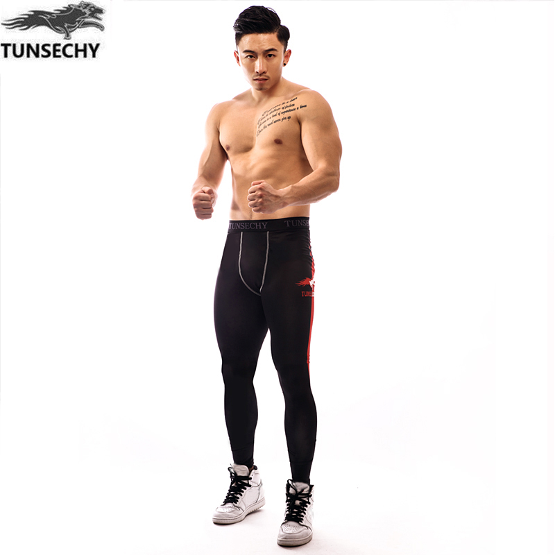 Mens compression pants bodybuilding jogger fitness exercise skinny leggings Super elastic tights pants trousers clothes clothing