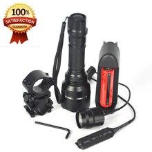 Alta Calidad 2000LM Linterna C8 XML T6 Linterna Led Linterna Antorcha Caza Luz de Luz de Flash + 18650 + Cargador de Batería + el Montaje Del arma