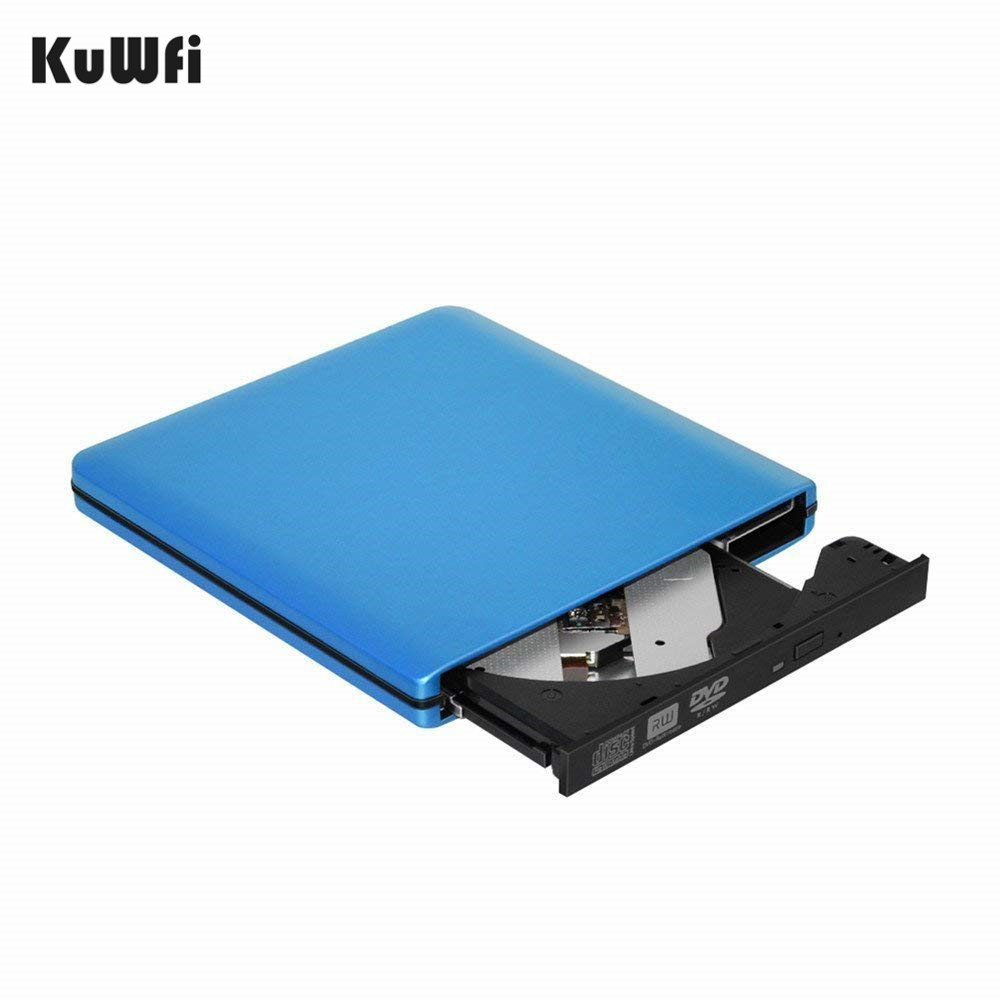 цена на BLUE External DVD CD Burner Drive USB 3.0 Portable External DVD-RW CD-RW Burner Writer Rewriter Optical Disc CD DVD ROM Player