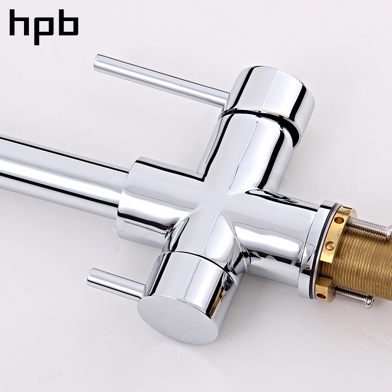 HPB Brushed Nickel Finished 3 Way Kitchen Faucet Filter Water Tap 2 ...
