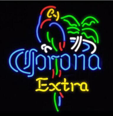 Corona Extra Parrot Bird Glass Neon Light Sign