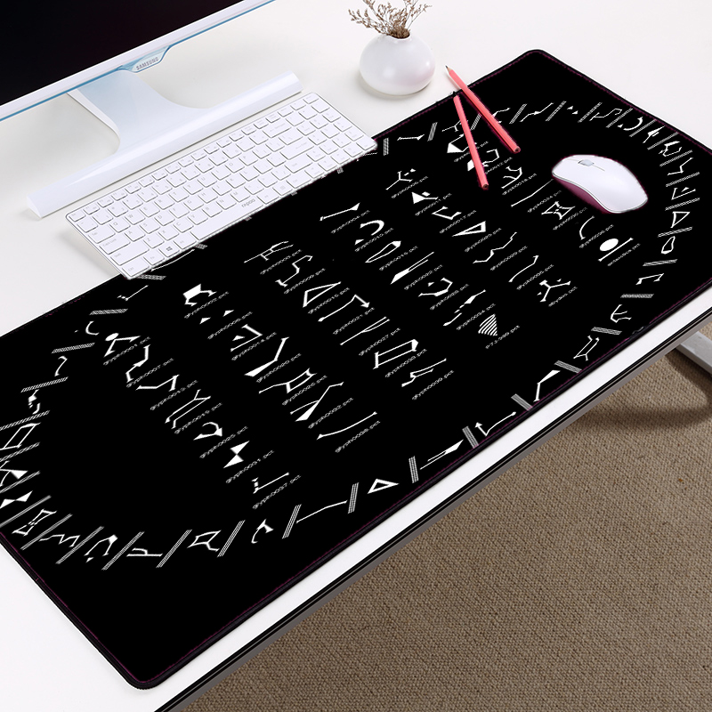 Mairuige Creative Pattern Mousepad STARGATE SG1 Code Symbol Table Mouse Mat 400x900 Big Size Movie Pattern Mice Mat Pad