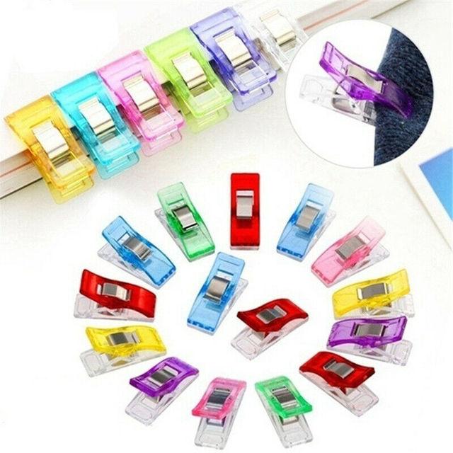 Clip plastique multicolore de haute qualité | 50 pièces/100 pièces/200 pièces, nouveau artisanat bricolage, Patchwork Clips à coudre, pince en plastique trèfle merveille