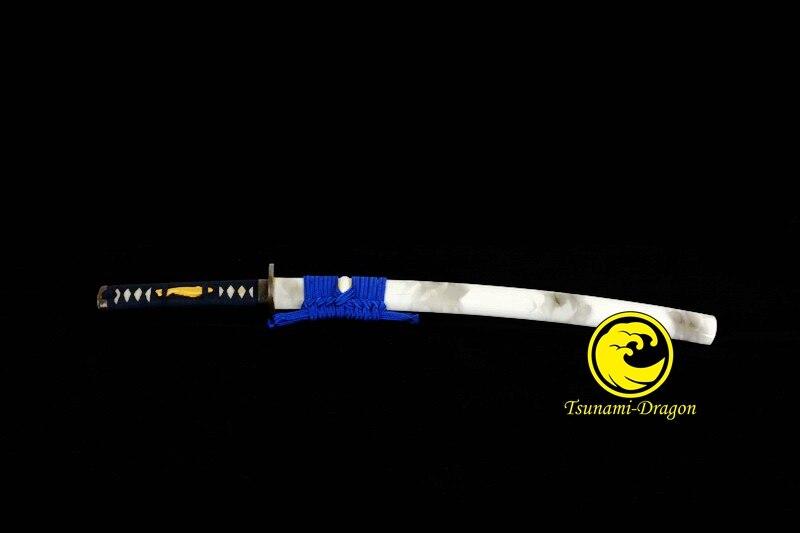 Top Quality Clay Tempered Kobuse Blade Japanese Wakizashi Samurai Folded Steel Ready Razor Sharp Full Tang